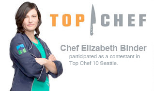 Top Chef Elizabeth Binder is participating as a contestant at Top Chef 10 Seattle